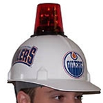 Police Lights Make Hockey Hard Hats Fun and Fashionable for Fans
