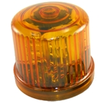 Rotating LED Beacon Light, Battery Operated, Optional AC Power, Magnet Mount, Amber