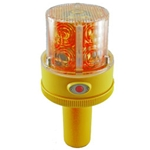 Flashing LED Safety Light with Handle, Battery Operated, Photocell, RED