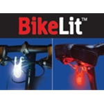 BikeLit LED Bicycle Safety Light Combo 2 Pack, White/Red