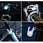 BikeLit LED Bicycle Safety Light, WHITE