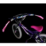 Bicycle Handlebar Light Streamers, LED Fiberoptic, PINK