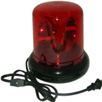 Police Beacon Novelty Light, 8 inch, 110V, Plug-In, RED
