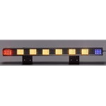 Sequencing LED Traffic Assist Light Bar, 36 in., AMBER/RED & BLUE