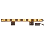 Sequencing LED Traffic Assist Light Bar with 16 Mode Control Box, Arrow End Lamps, AMBER
