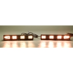 Sequencing LED Traffic Assist Light Bar, Amber, 2 Piece, 12-24 Volt, Arrow End Lamps