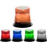 MicroBurst LED Warning Light, 12/48V DC, Non-Flashing, Magent Mount Vehicle Adapter