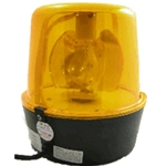 10 in. Rotating Police Beacon, 110V, Plug-In, YELLOW