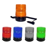 Double Flash 750 Series Strobe Warning Light, 12/24 V DC, 6'' TALL Lens, Magnet Mount with Vehicle Adapter