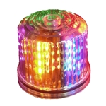 4.75 in. Rotating LED Beacon, battery operated/Jack, MULTICOLOR