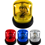Rotating Beacon Light with Alarm, Permanent Mount, 12 Volts
