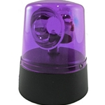 Mini Novelty Police Beacon, Battery Operated, VIOLET