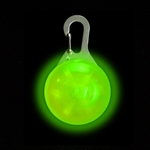 SpotLit LED Carabiner Clip-on Safety Light for You or Your Dog, LIME