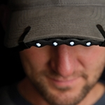 BrimLit LED Flexible Light for Hat Brim, Battery Operated