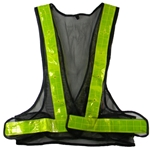 Reflective Safety Vest with Flashing Red LED Lights, Yellow