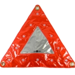 Reflective Traffic Warning Triangle, Flashing LEDs, Magnetic
