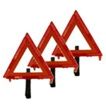 3 Reflective Traffic Warning Triangles Kit with Case