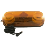 Alternating Quad-Flash Strobe, Magnetic Mount, Amber