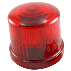 Rotating LED Beacon Light, Battery Operated, Optional AC Power, Magnet Mount, Red
