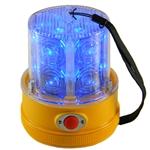 24 LED Flashing Personal Safety Light, Magnet Mount, Photocell, BLUE