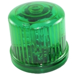 Rotating LED Beacon Light, Battery Operated, Optional AC Power, Magnet Mount, GREEN