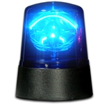 Police Beacon Novelty LED Light, 4.5 inch, Battery Operated, BLUE
