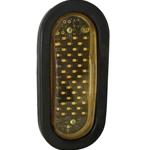 Oval LED Surface Mount Warning Light - Rapid Fire Quad Flash