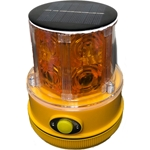 Solar Powered Flashing Personal Safety Light, Magnet Mount, Photocell
