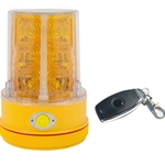 Flashing Personal Safety Light with Remote Control, Magnet Mount, Photocell, AMBER