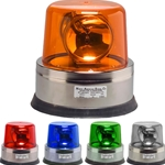 Action Lite Stainless Steel 3 Beam Revolving LED Beacon - 300 Series