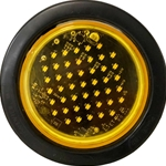 Round LED Flashing Surface Mount Warning Light - Rapid Fire Quad Flash