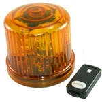 4.75 in. Rotating LED Beacon, battery operated/Jack with Remote Control, Amber