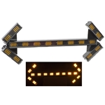 Sequencing LED Traffic Assist Light Bar with 16 Mode Control Box, Arrow End Lamps, 41.5 in., AMBER