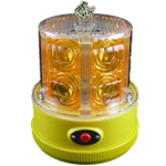 24 LED Flashing Amber Personal Safety Light, Magnet Mount, Photocell