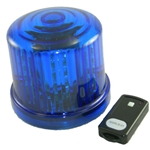 4.75 in. Rotating LED Beacon, battery operated/Jack with Remote Control, Blue