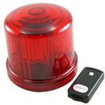 4.75 in. Rotating LED Beacon, battery operated/Jack with Remote Control, Red