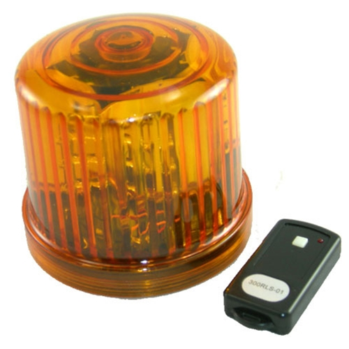 Rotating Led Beacon Battery Operated Remote Control Amber
