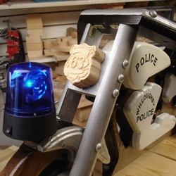 blue revolving beacon light for motorcycle police rocker