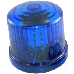 4.75 in. Rotating Blue LED Beacon, battery operated/Jack