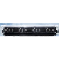 "24"" Low Profile LED Safety Light Bar, 12/24V DC, Permanent Mount"