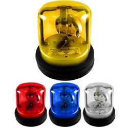120 V Rotating Beacon Light, Permanent Mount, AC, 0.2 amps 6600 candlepower