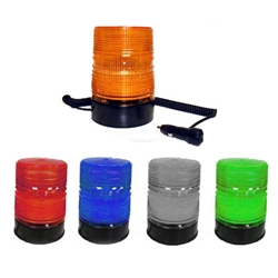 Quad Flash 750 Series Strobe Warning Light, 12/24 V DC, 6'' TALL Lens, Magnet Mount with Vehicle Adapter